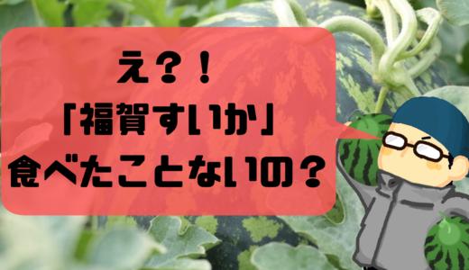 【決定版!!】「本当に美味しいスイカ」の選び方を、スイカ農家が教えます!まだ、「福賀すいか」食べたことないの?
