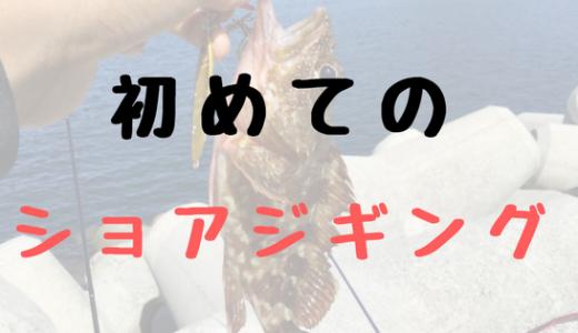 初心者が装備を揃えてショアジギング!【1人釣行〜阿武町宇田・奈古〜】