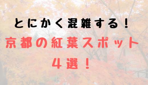 紅葉シーズンは混雑必至!特に消耗が予想される京都の紅葉スポット4選!