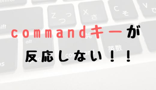 MacBookのcommandキー(⌘)が反応しない!ひとまず応急処置します!