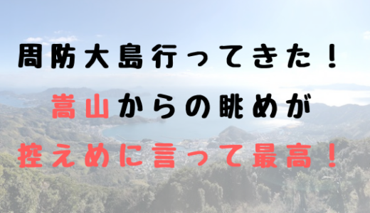 山口県周防大島にそびえ立つ嵩山(だけさん)展望台からの眺めが、控え目に言って最高すぎた!